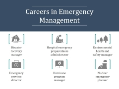 Careers In Emergency Management Ppt PowerPoint Presentation Infographics