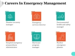 Careers In Emergency Management Ppt PowerPoint Presentation Microsoft