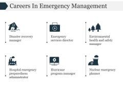 Careers In Emergency Management Ppt PowerPoint Presentation Rules