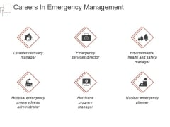 Careers In Emergency Management Ppt PowerPoint Presentation Slides