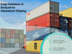 Cargo Containers At Dockyard For International Shipping Ppt PowerPoint Presentation Model Designs PDF