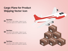 Cargo Plane For Product Shipping Vector Icon Ppt PowerPoint Presentation File Microsoft PDF