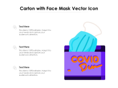 Carton With Face Mask Vector Icon Ppt PowerPoint Presentation Inspiration Background PDF