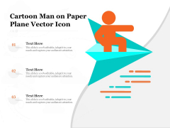 Cartoon Man On Paper Plane Vector Icon Ppt PowerPoint Presentation File Tips PDF