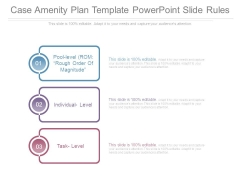 Case Amenity Plan Template Powerpoint Slide Rules