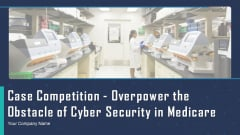 Case Competition Overpower The Obstacle Of Cyber Security In Medicare Ppt PowerPoint Presentation Complete Deck With Slides