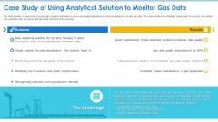 Case Competition Petroleum Sector Issues Case Study Of Using Analytical Solution To Monitor Gas Data Slides PDF