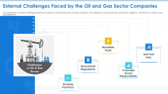 Case Competition Petroleum Sector Issues External Challenges Faced By The Oil And Gas Sector Companies Template PDF