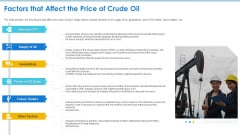 Case Competition Petroleum Sector Issues Factors That Affect The Price Of Crude Oil Ppt Visual Aids Infographic Template PDF