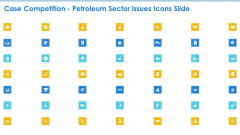 Case Competition Petroleum Sector Issues Icons Slide Ppt Infographic Template Designs PDF