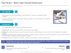 Case Study 2 Banks Cyber Security Infrastructure Mockup PDF