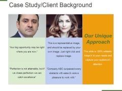 Case Study Client Background Ppt PowerPoint Presentation Slides Infographic Template