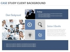 Case Study Client Background Ppt Slides