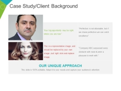 Case Study Client Background Template 2 Ppt PowerPoint Presentation Pictures Elements