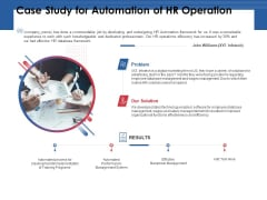 Case Study For Automation Of HR Operation Ppt PowerPoint Presentation Outline Introduction PDF