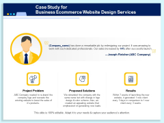 Case Study For Business Ecommerce Website Design Services Ppt PowerPoint Presentation Inspiration Graphic Images PDF