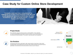 Case Study For Custom Online Store Development Ppt PowerPoint Presentation Outline Graphic Images