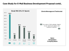 Case Study For E Mail Business Development Proposal Contd Testimonial Ppt PowerPoint Presentation Layouts Elements