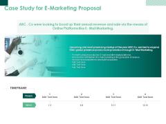 Case Study For E Marketing Proposal Ppt PowerPoint Presentation Ideas Format Ideas