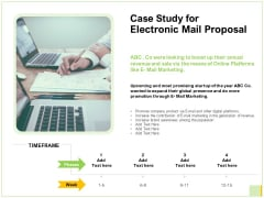 Case Study For Electronic Mail Proposal Ppt Ideas Demonstration PDF