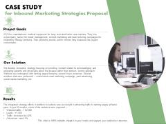Case Study For Inbound Marketing Strategies Proposal Ppt PowerPoint Presentation Outline Influencers