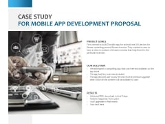 Case Study For Mobile App Development Proposal Ppt PowerPoint Presentation Pictures Background Designs