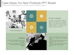 Case Study For New Products Ppt Model