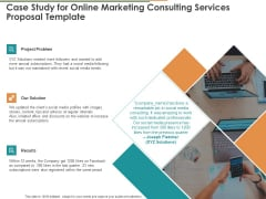 Case Study For Online Marketing Consulting Services Proposal Template Ppt Infographics Professional PDF