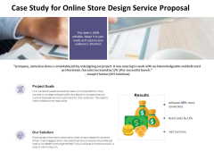 Case Study For Online Store Design Service Proposal Ppt PowerPoint Presentation Pictures Information