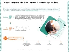 Case Study For Product Launch Advertising Services Ppt PowerPoint Presentation Show Visuals PDF
