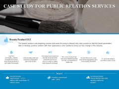 Case Study For Public Relation Services Ppt PowerPoint Presentation Gallery Picture