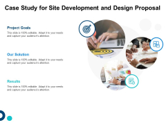 Case Study For Site Development And Design Proposal Ppt Outline Sample PDF