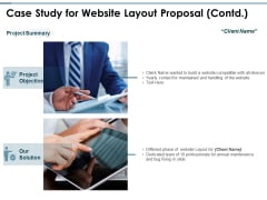 Case Study For Website Layout Proposal Contd Ppt PowerPoint Presentation Icon Model