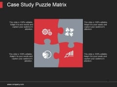 Case Study Puzzle Matrix Ppt PowerPoint Presentation Templates
