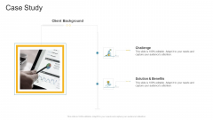 Case Study Solution Company Profile Ppt Gallery Guidelines PDF