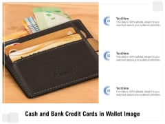 Cash And Bank Credit Cards In Wallet Image Ppt PowerPoint Presentation Icon Professional PDF
