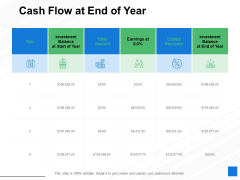 Cash Flow At End Of Year Ppt PowerPoint Presentation Backgrounds