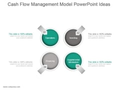 Cash Flow Management Model Powerpoint Ideas