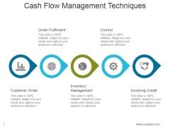 Cash Flow Management Techniques Ppt PowerPoint Presentation Inspiration