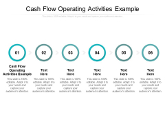 Cash Flow Operating Activities Example Ppt PowerPoint Presentation Outline Display Cpb
