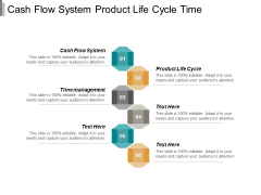 Cash Flow System Product Life Cycle Time Management Ppt PowerPoint Presentation Inspiration Model