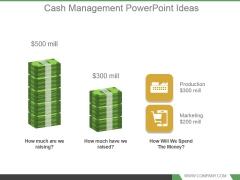 Cash Management Powerpoint Ideas