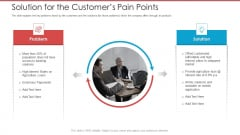 Cash Market Investor Deck Solution For The Customers Pain Points Ppt Pictures Clipart Images PDF