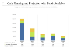 Cash Planning And Projection With Funds Available Ppt PowerPoint Presentation Gallery Skills PDF