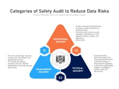 Categories Of Safety Audit To Reduce Data Risks Ppt PowerPoint Presentation Gallery Graphics Download PDF