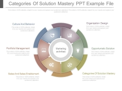 Categories Of Solution Mastery Ppt Example File