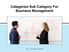 Categories Sub Category For Business Management Content Analysis Ppt PowerPoint Presentation Complete Deck