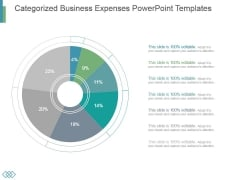 Categorized Business Expenses Powerpoint Templates