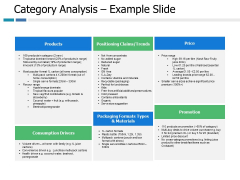 Category Analysis Example Slide Ppt PowerPoint Presentation Infographics Icons