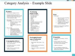 Category Analysis Example Slide Ppt PowerPoint Presentation Styles Shapes